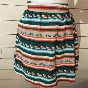 ERZA Cute Flowing Bird Skirt